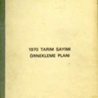 1970 TARIM SAYIMI ÖRNEKLEME PLANI