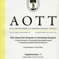 AOTT, Acta Orthopedica et Traumatlolıgica Turcica, Cilt:45, 1 Kasım 2011